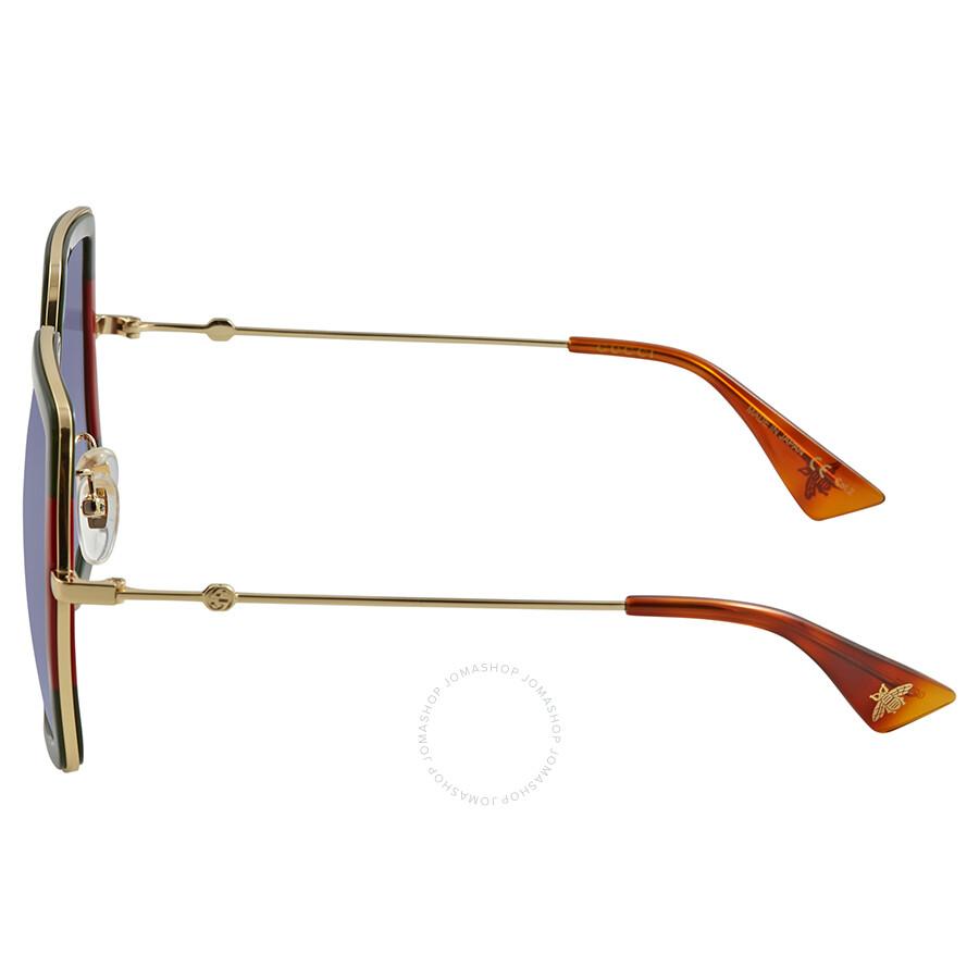 d3663b5d63397 Gucci Grey Gradient Square Sunglasses GG0106S 007 56 - Gucci ...