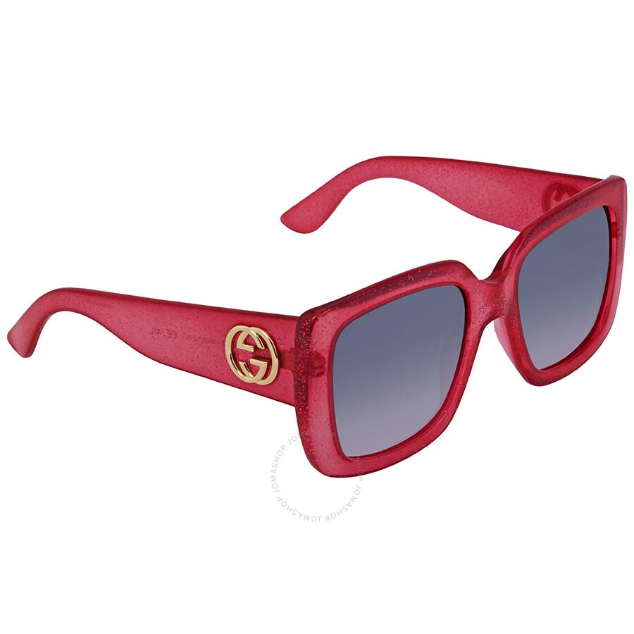 bf78f439ffd Gucci Grey Gradient Square Sunglasses GG0141S 003 53 - Gucci ...