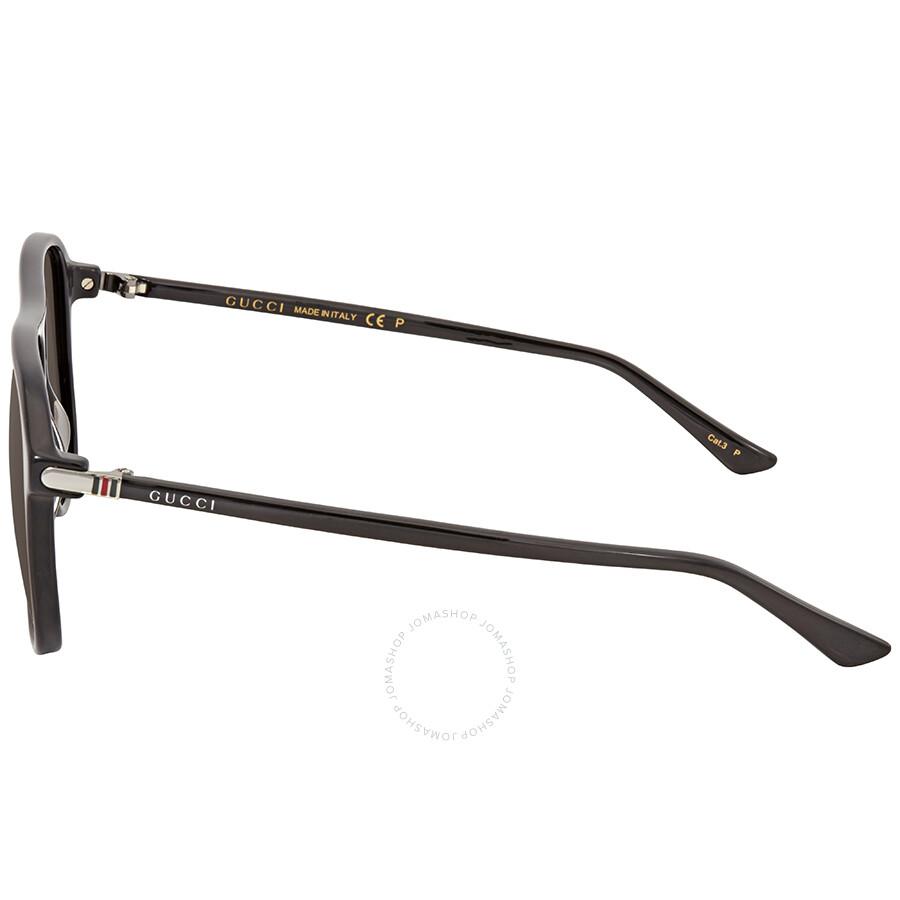 0970ea56215 Gucci Grey Polarized Aviator Men s Sunglasses GG0016S-006 58 - Gucci ...