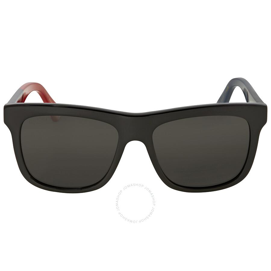 7eb417dcb3 Gucci Grey Rectangular Sunglasses GG0158S 003 54 - Gucci ...