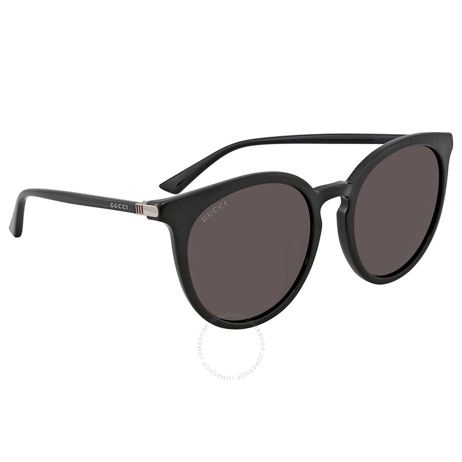 9d435cbbb2d Gucci Grey Round Ladies Sunglasses GG0064SK 001 55 - Gucci ...