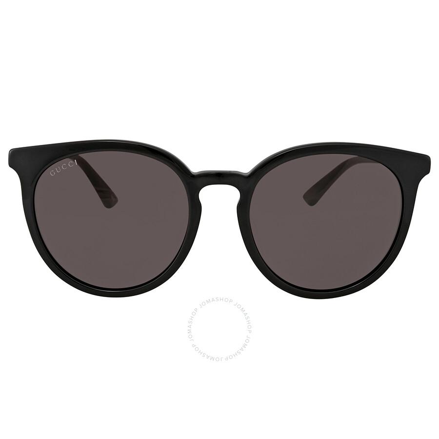 3899229b59e15 Gucci Grey Round Ladies Sunglasses GG0064SK 001 55 - Gucci ...
