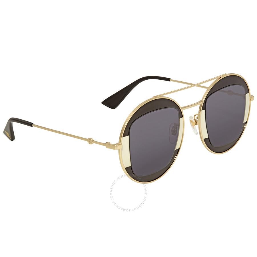 adee2800eb9 Gucci Grey Round Ladies Sunglasses GG0105S-006 47 - Gucci ...