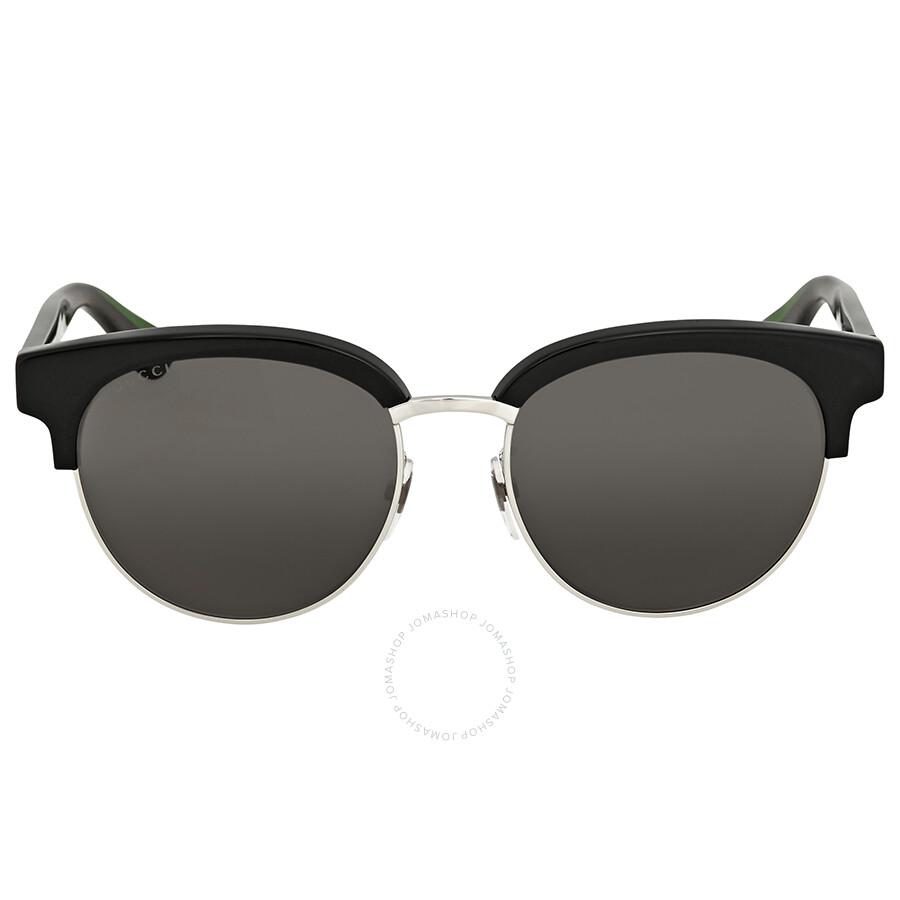e1fbacc8be3 Gucci Grey Round Sunglasses GG0058SK 002 55 - Gucci - Sunglasses ...