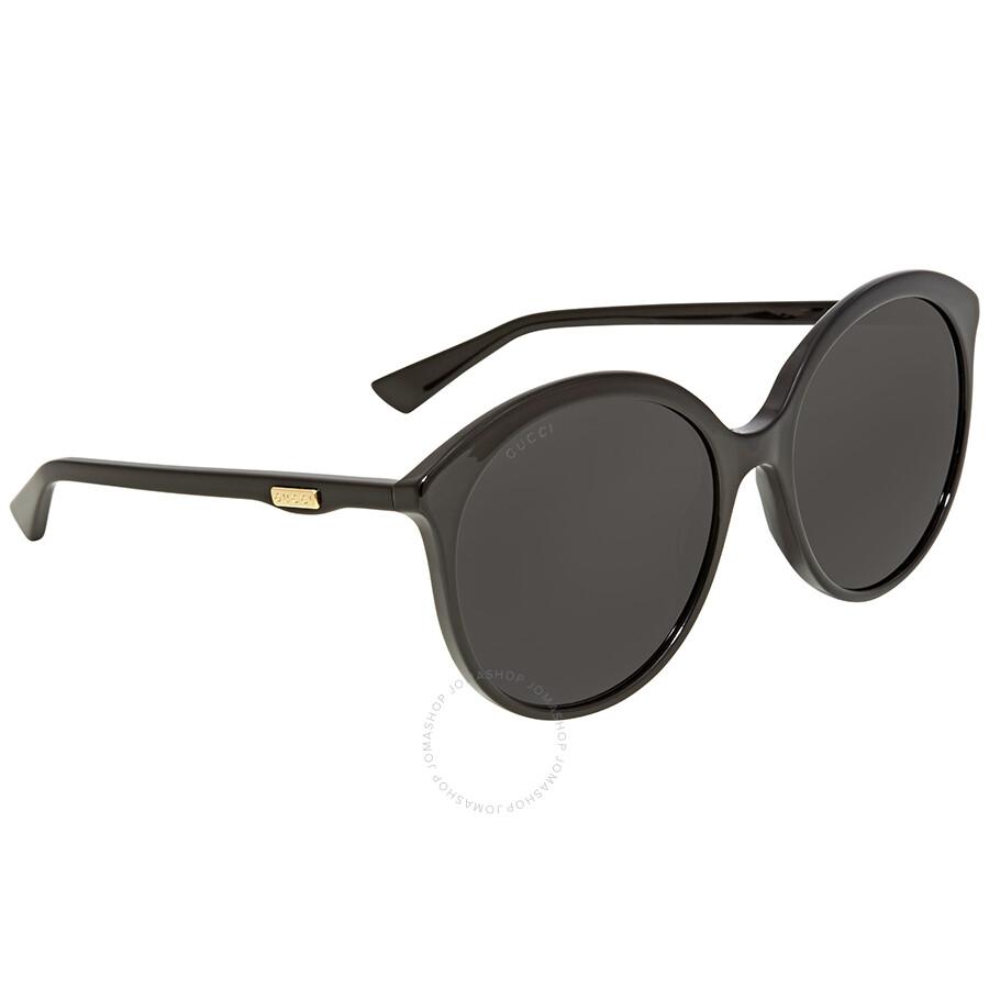 27641e5a5e5 Gucci Grey Round Sunglasses GG0257S-001 59 - Gucci - Sunglasses ...