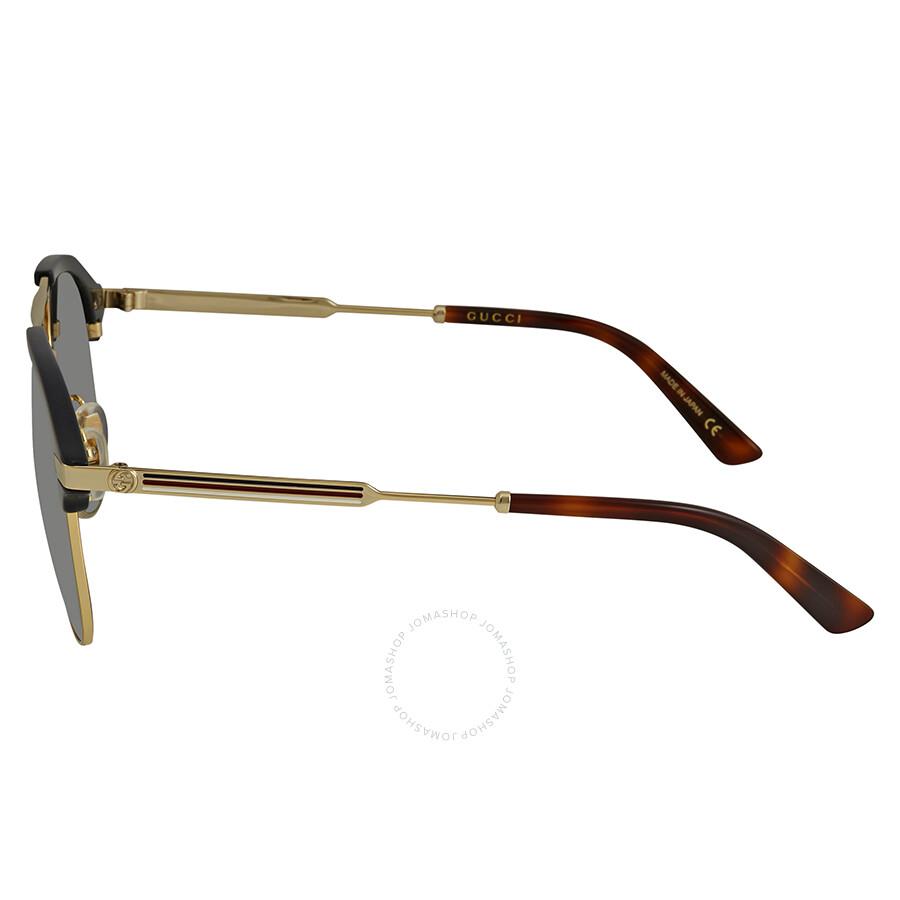 0f3ed641ee Gucci Grey-Silver Aviator Sunglasses GG0288SA-005 60 - Gucci ...