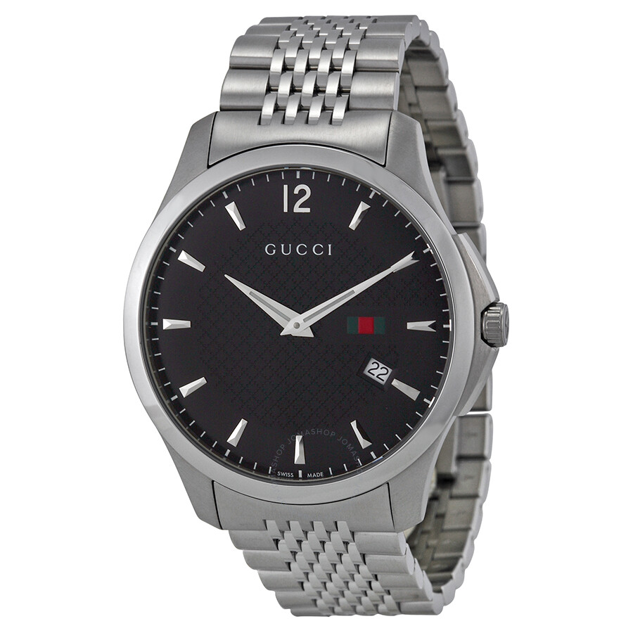5fc3791b120 Gucci G-Timeless Black Dial Stainless Steel Men s Watch YA126309 - G ...