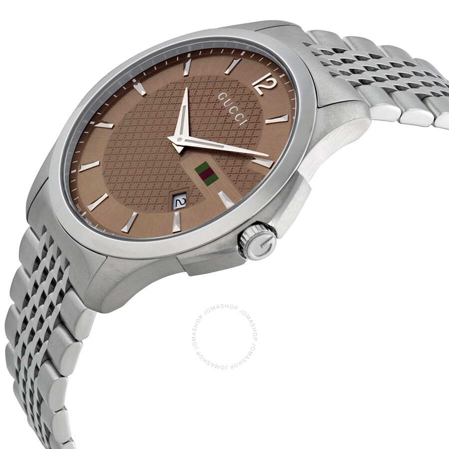 6049e9f7e47 Gucci G-Timeless Brown Dial Stainless Steel Men s Watch YA126310 - G ...