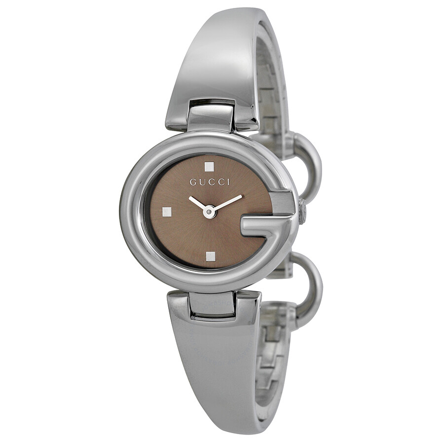 8d2b9ebe5db Gucci Guccissima Brown Dial Stainless Steel Ladies Watch YA134503 ...