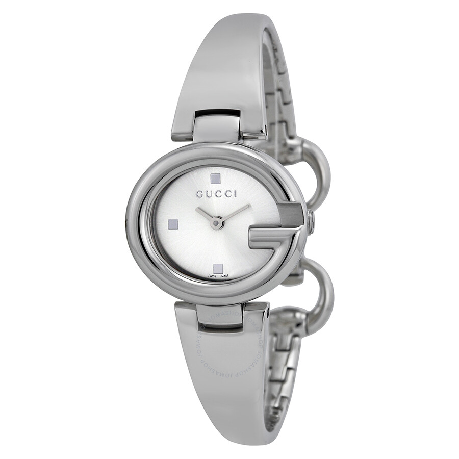 f0c20651ba7 Gucci Guccissima Silver Dial Stainless Steel Ladies Watch YA134502 ...