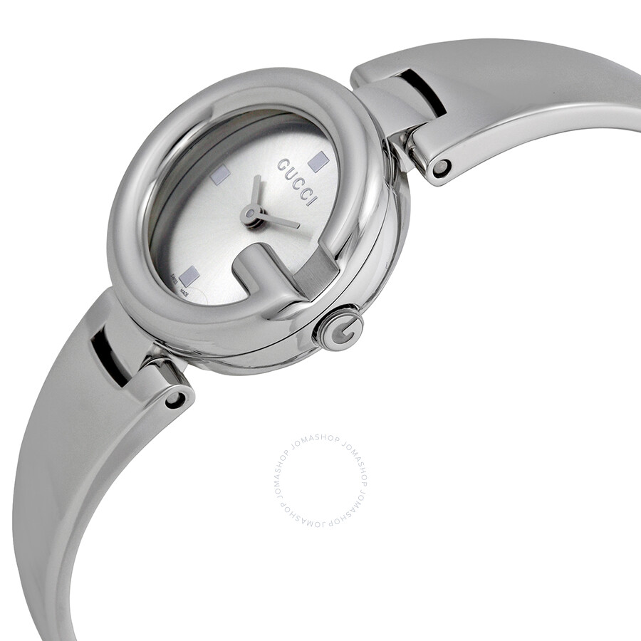 4407e82f799 ... Gucci Guccissima Silver Dial Stainless Steel Ladies Watch YA134502 ...