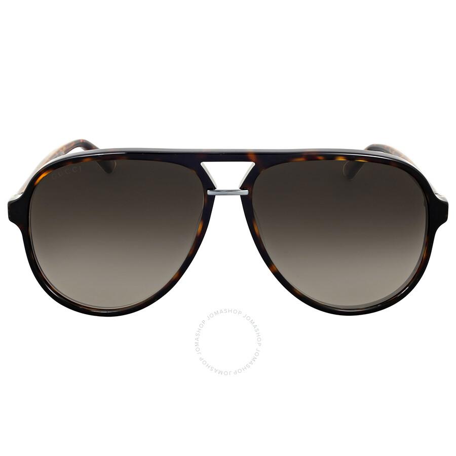 6fdf35d44f3 Gucci Havana Aviator Sunglasses - Gucci - Sunglasses - Jomashop