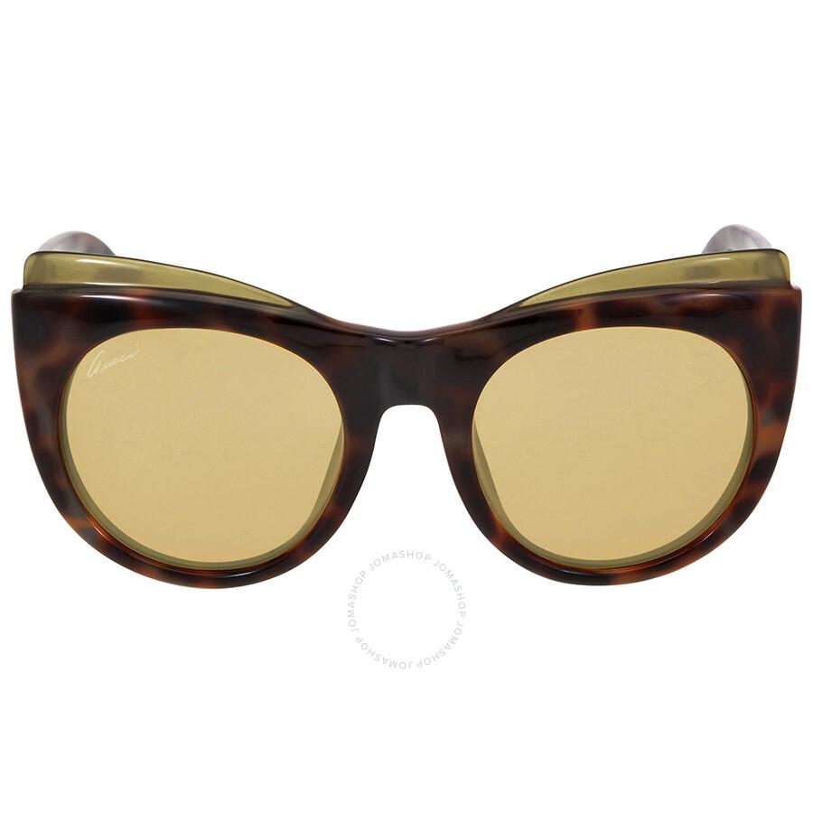 d2dfd2a959f Gucci Havana Brown Cat Eye Sunglasses - Gucci - Sunglasses - Jomashop