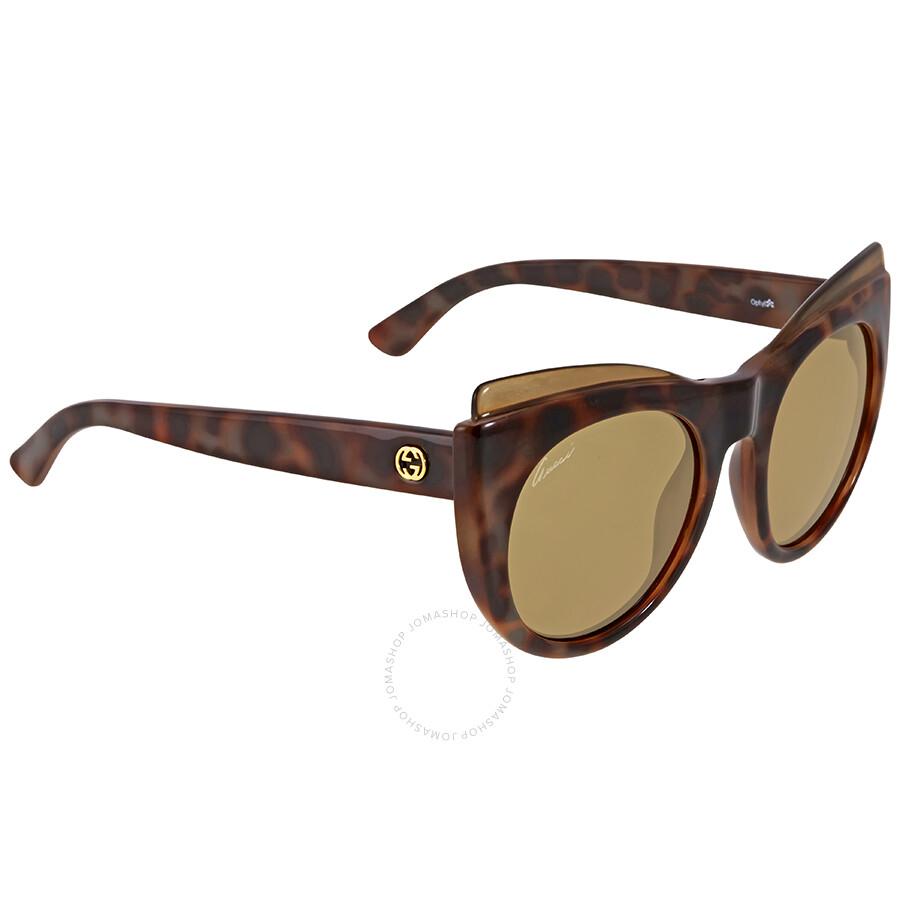 a3ecb4af009 Gucci Havana Brown Cat Eye Sunglasses Gucci Havana Brown Cat Eye Sunglasses  ...