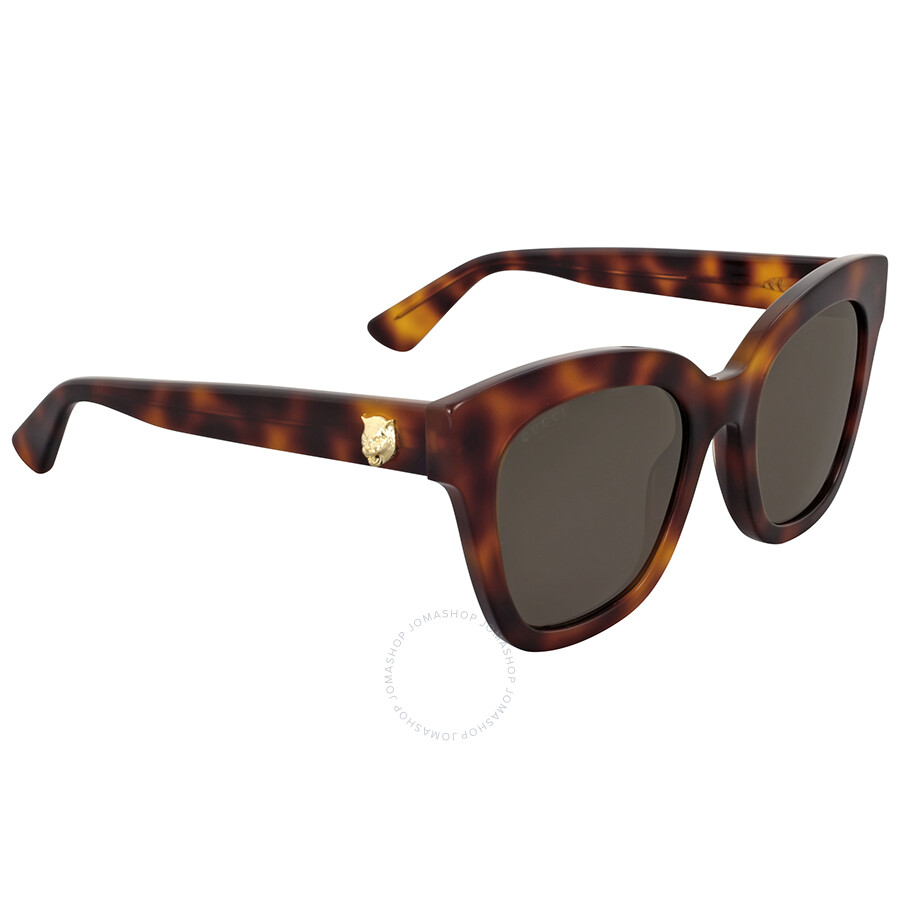 63f42b81e6f Gucci Havana Brown Square Sunglaasses - Gucci - Sunglasses - Jomashop