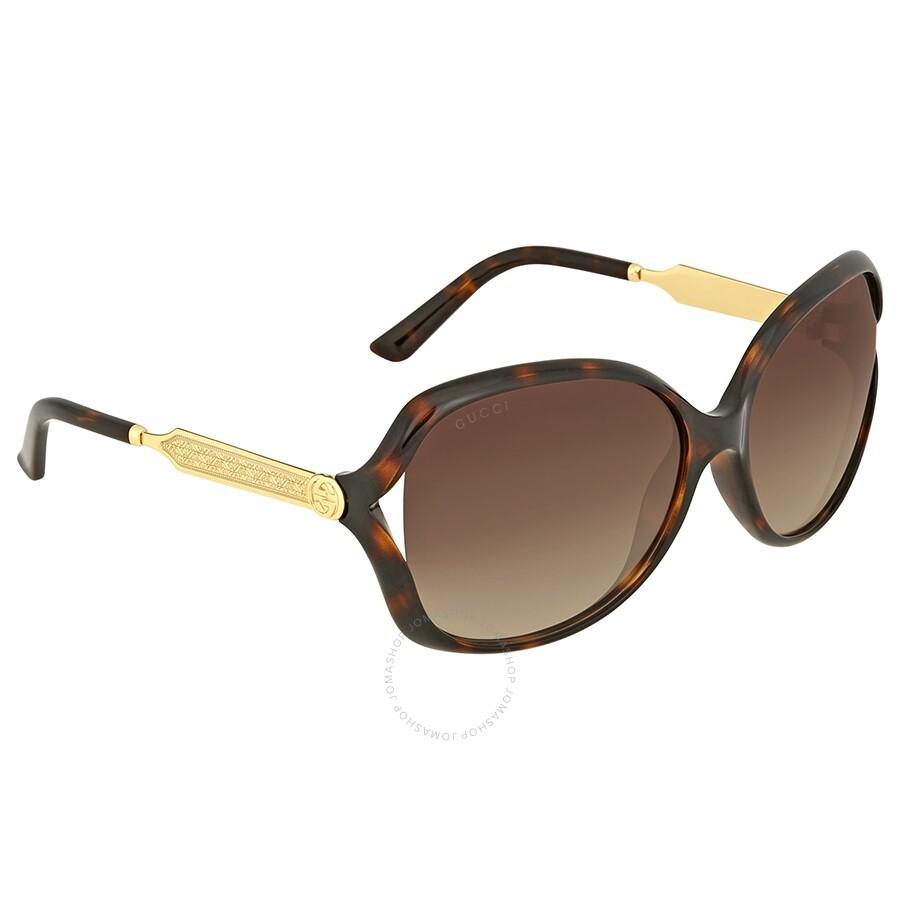 c39f9a4e54 Gucci Havana Round Sunglasses - Gucci - Sunglasses - Jomashop