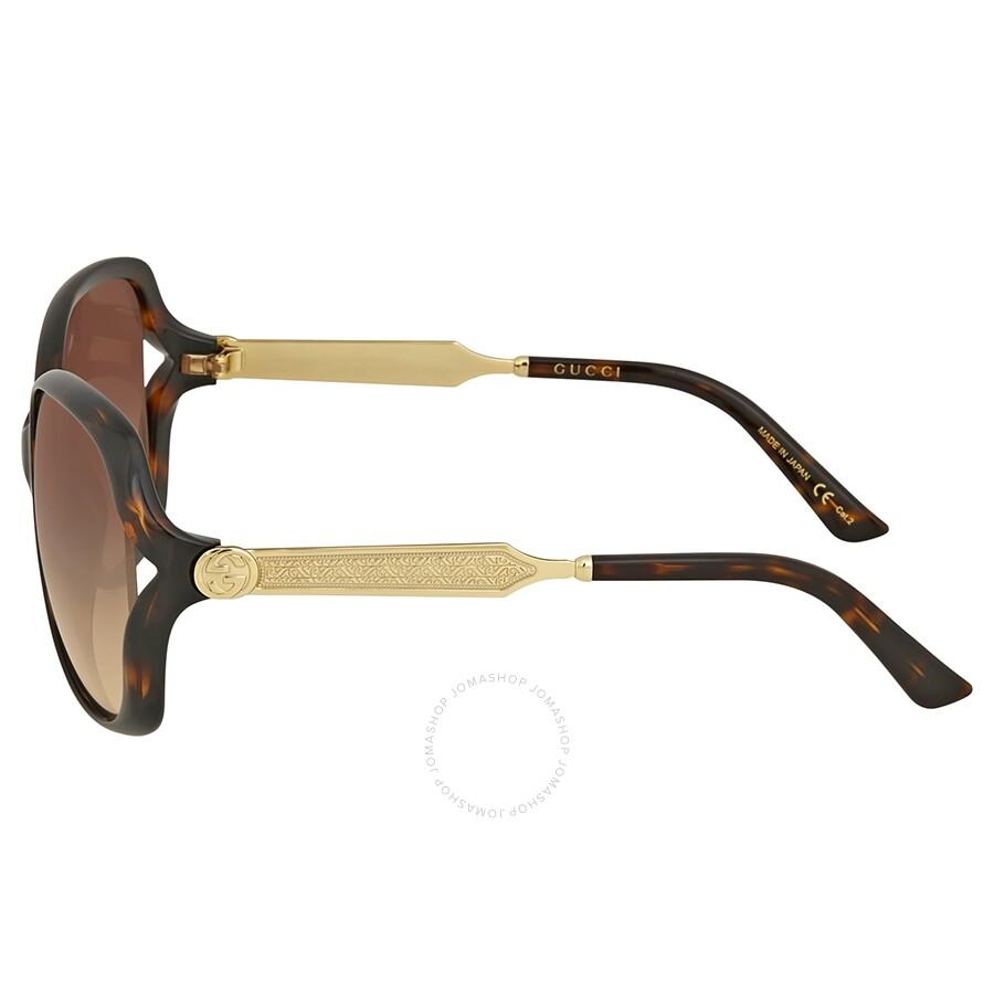 dcf2863c3b6 Gucci Havana Round Sunglasses - Gucci - Sunglasses - Jomashop
