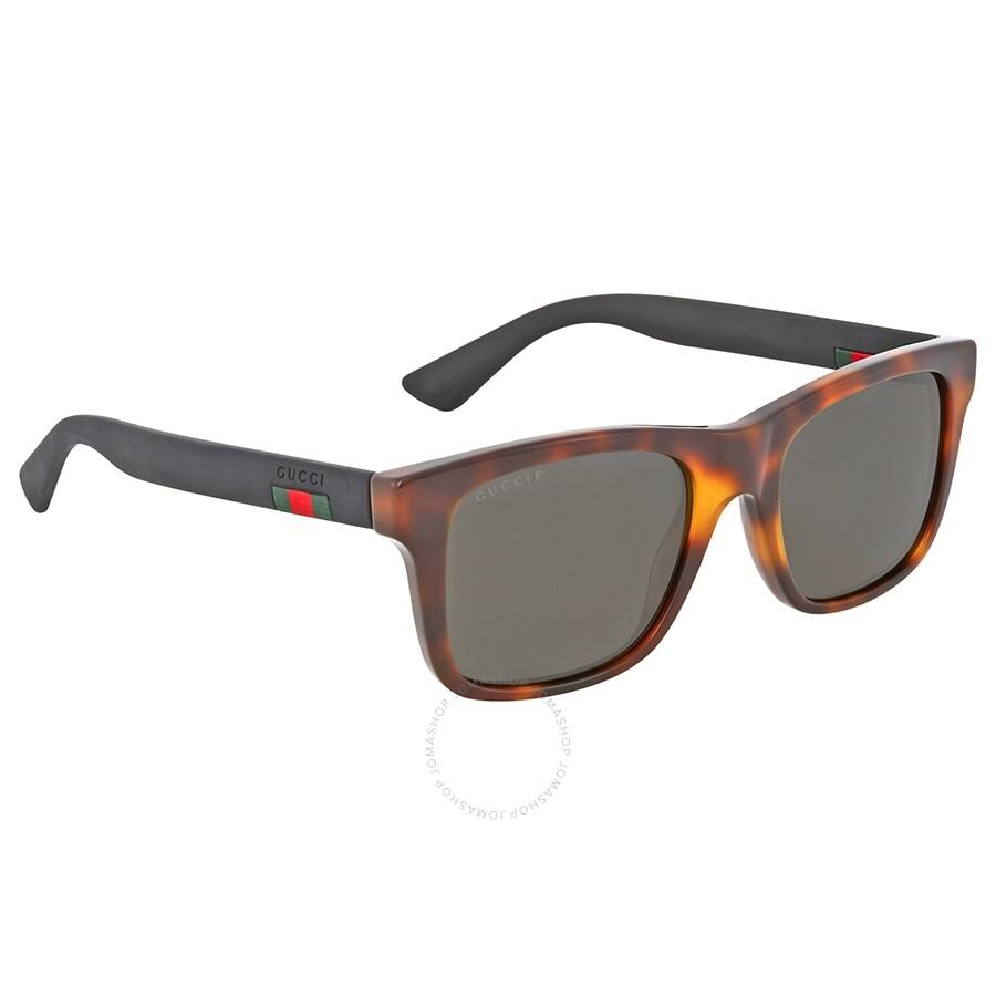 82f4695d5fce Gucci Havana Square Plastic Sunglasses - Gucci - Sunglasses - Jomashop