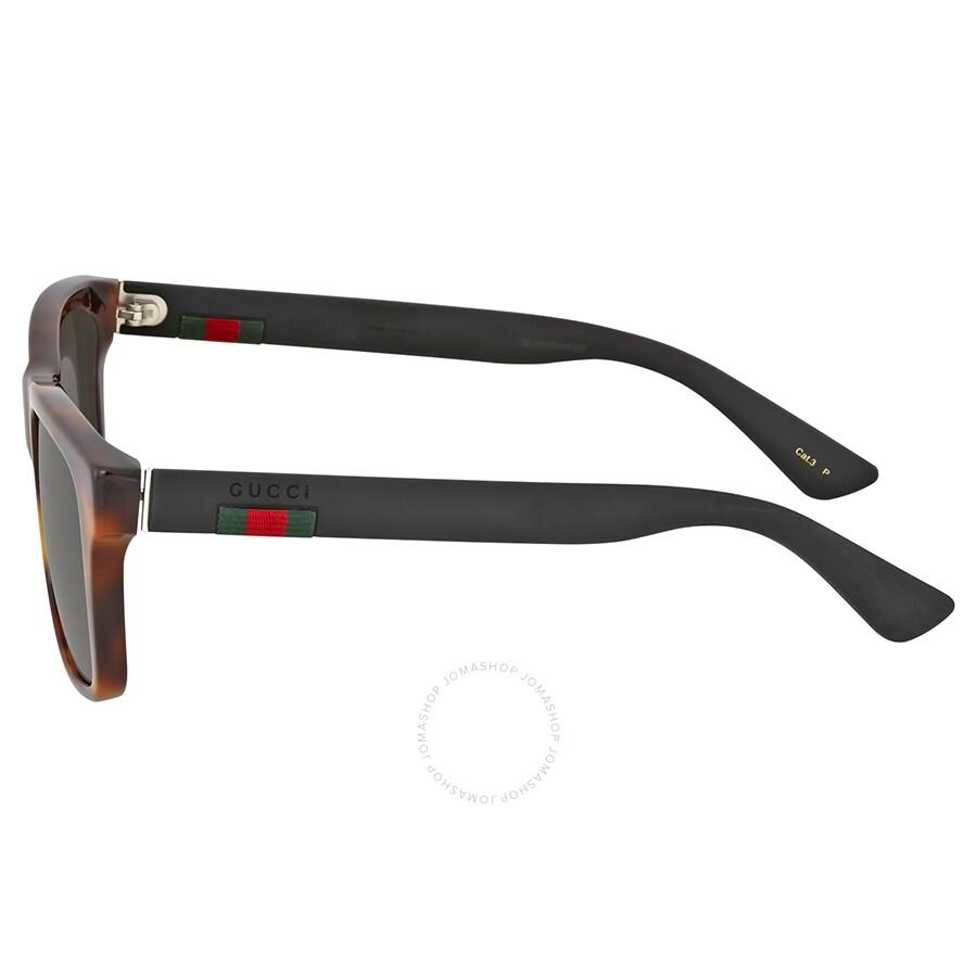 ca701d6d96234 Gucci Havana Square Plastic Sunglasses - Gucci - Sunglasses - Jomashop