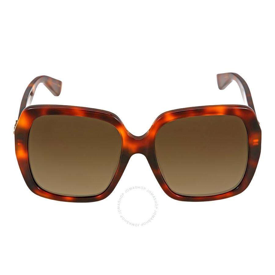 8e6ddbcc07 Gucci Havana Square Sunglasses - Gucci - Sunglasses - Jomashop