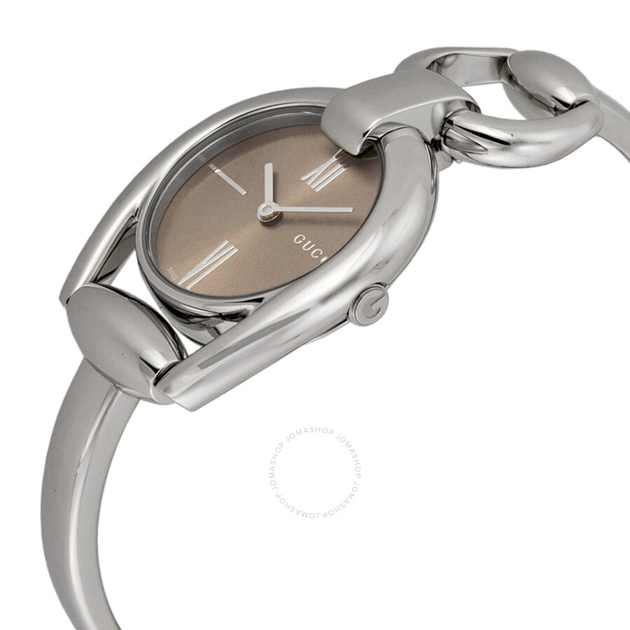695fe747643 ... Gucci Horsebit Collection Brown Dial Ladies Watch YA139501 ...