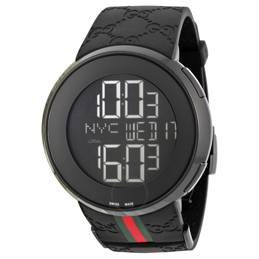 Gucci i gucci 114 men 39 s digital watch ya114207 i gucci gucci watches jomashop for Watches digital