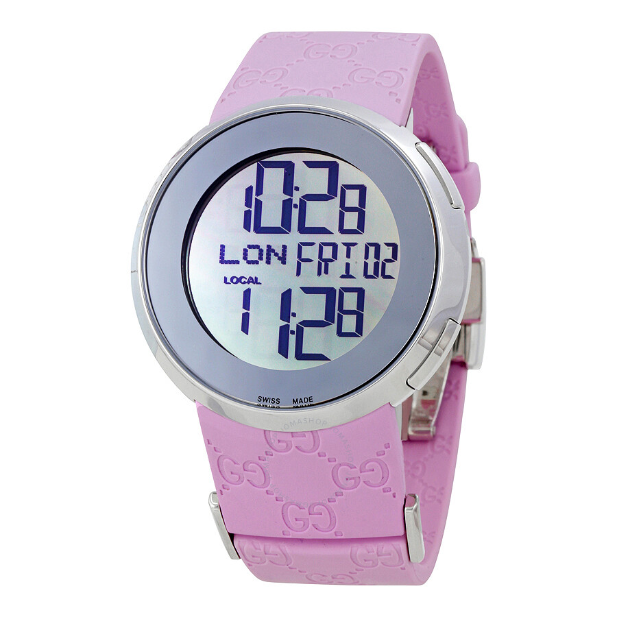 740d6c0cf Gucci I-Gucci Digital Pink Watch YA114404 - I-Gucci - Gucci ...
