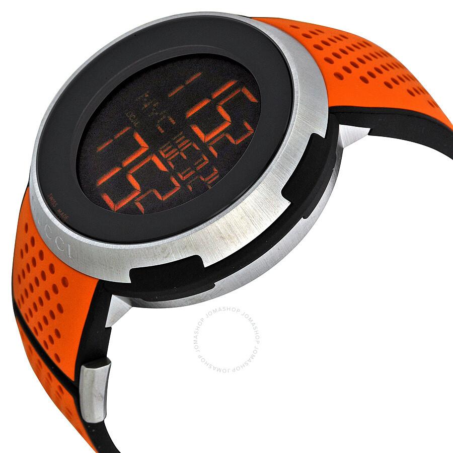 Gucci I-Gucci Sport XXL Digital Black Dial Men's Watch YA114104 - I-Gucci - Gucci - Watches ...