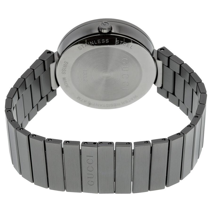 5068d473f86 ... Gucci Interlocking G Anthracite Dial Grey PVD Men s Watch YA133210 ...