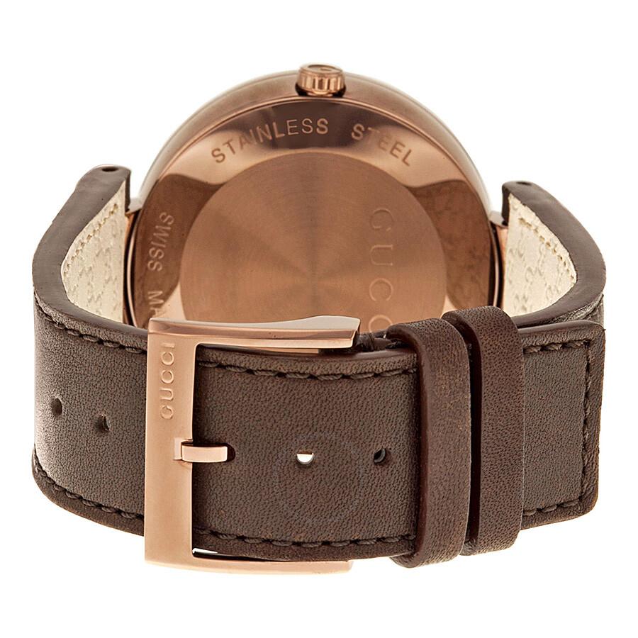 28c907bcb4c ... Gucci Interlocking G XL Brown Dial Brown Leather Men s Watch YA133207  ...