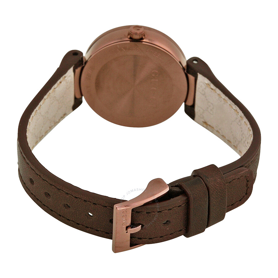 35f87222cd4 ... Gucci Interlocking G Small Brown Dial Ladies Watch YA133504 ...