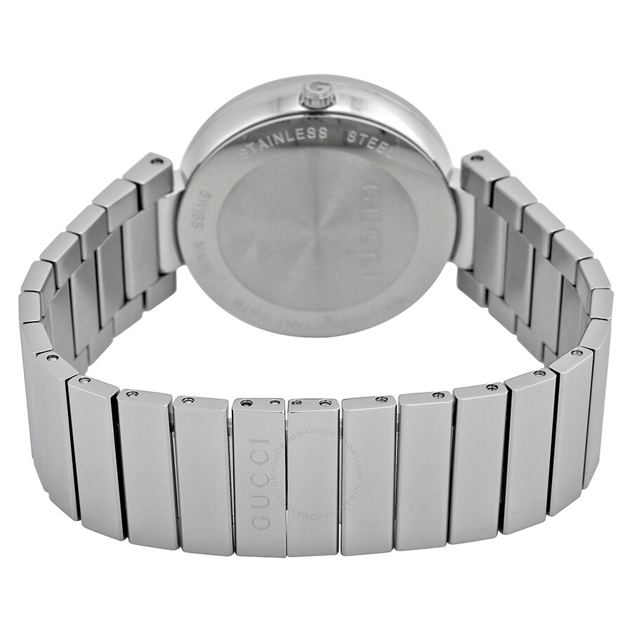 d7dfe1356a8 ... Gucci Interlocking Silver Dial Stainless Steel Ladies Watch YA133308 ...