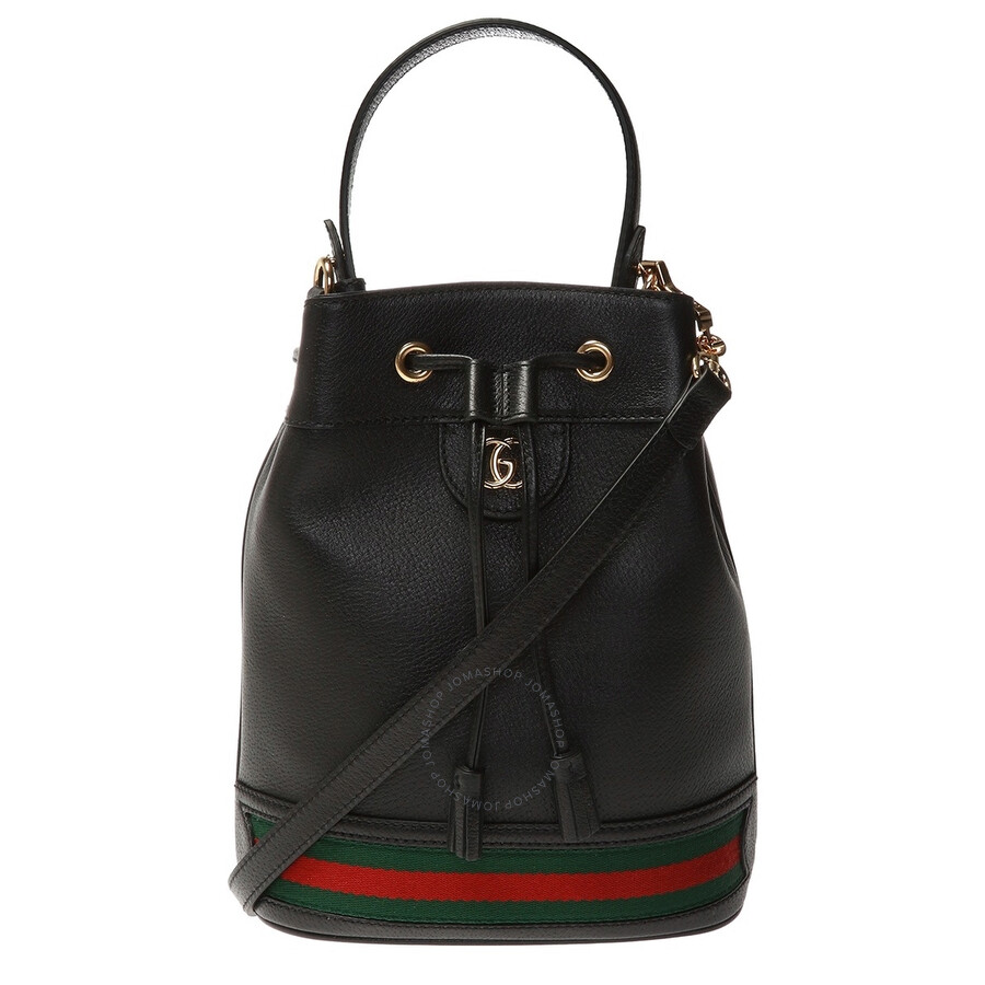 Gucci Ladies Ophidia Leather Bucket Bag In Black 610846 Cwg1g 1060 Handbags Jomashop