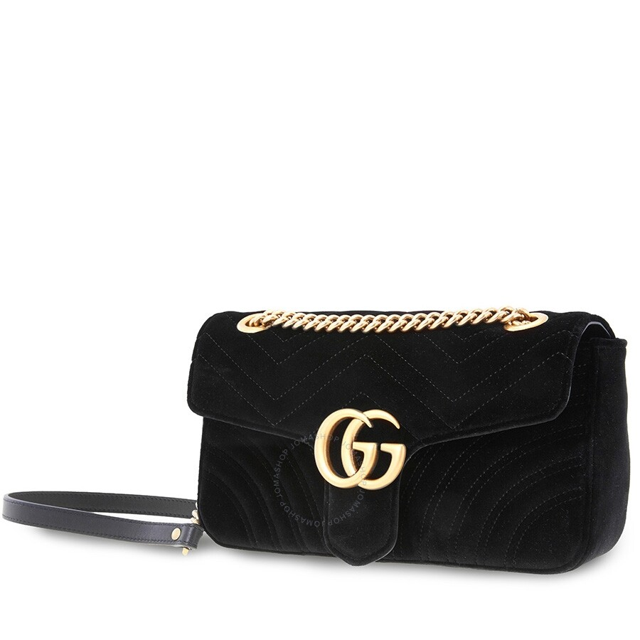 c58d6c99 Gucci Ladies Shoulder Bag Gg Marmont Black Gg Nmnt Small Shld Vvt