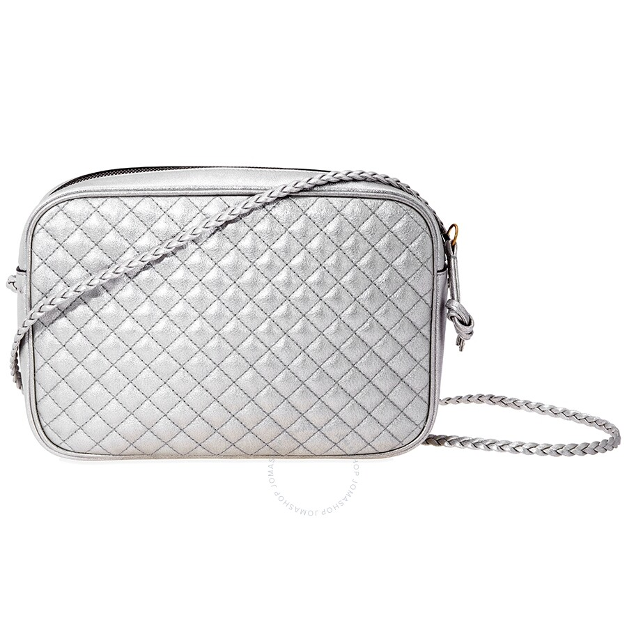 83be871d256bf1 Gucci Laminated Leather Small Shoulder Bag- Silver - Gucci ...
