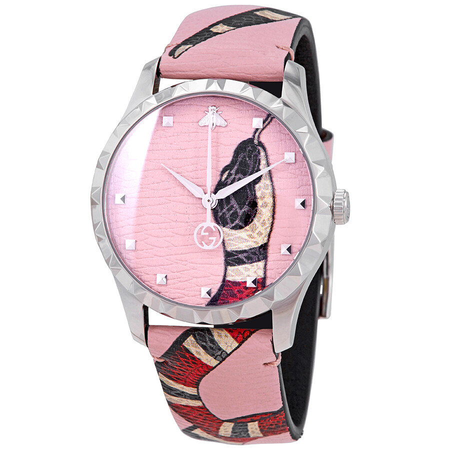 a515ec2bfe9 Gucci Le Marche Des Merveilles Pastel Pink with Kingsnake Print Dial Watch  YA1264083 ...