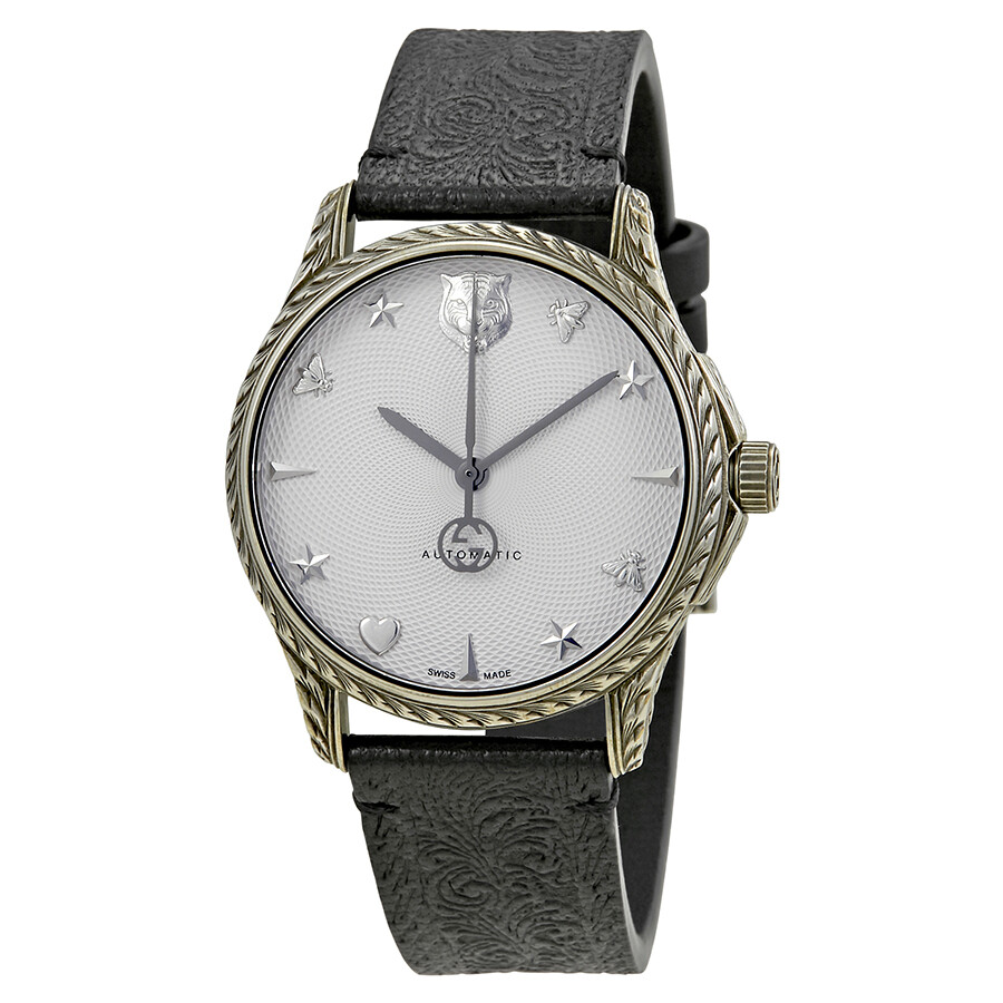 ff3f0be20 Gucci Le Marche Des Merveilles Silver Dial Automatic Men's Watch YA1264004  ...