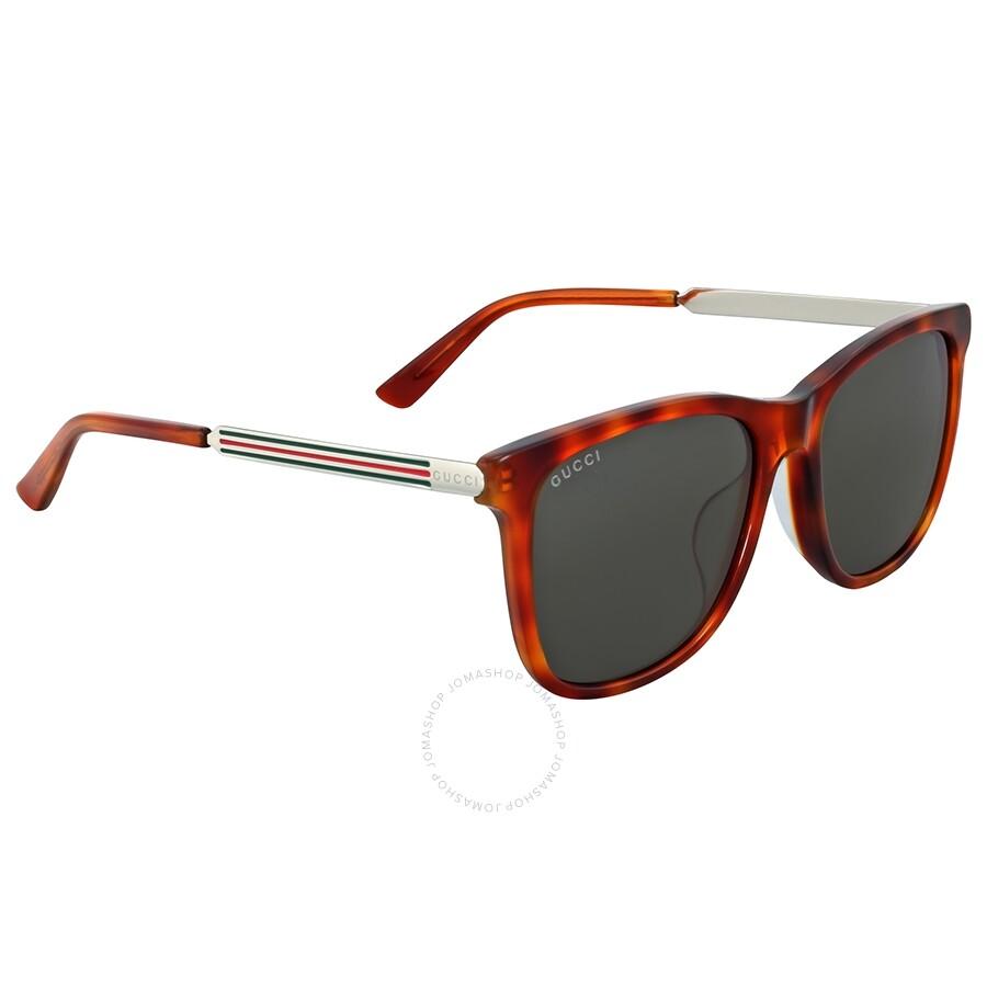 1d4572f635 Gucci Light Havana Square Sunglasses - Gucci - Sunglasses - Jomashop