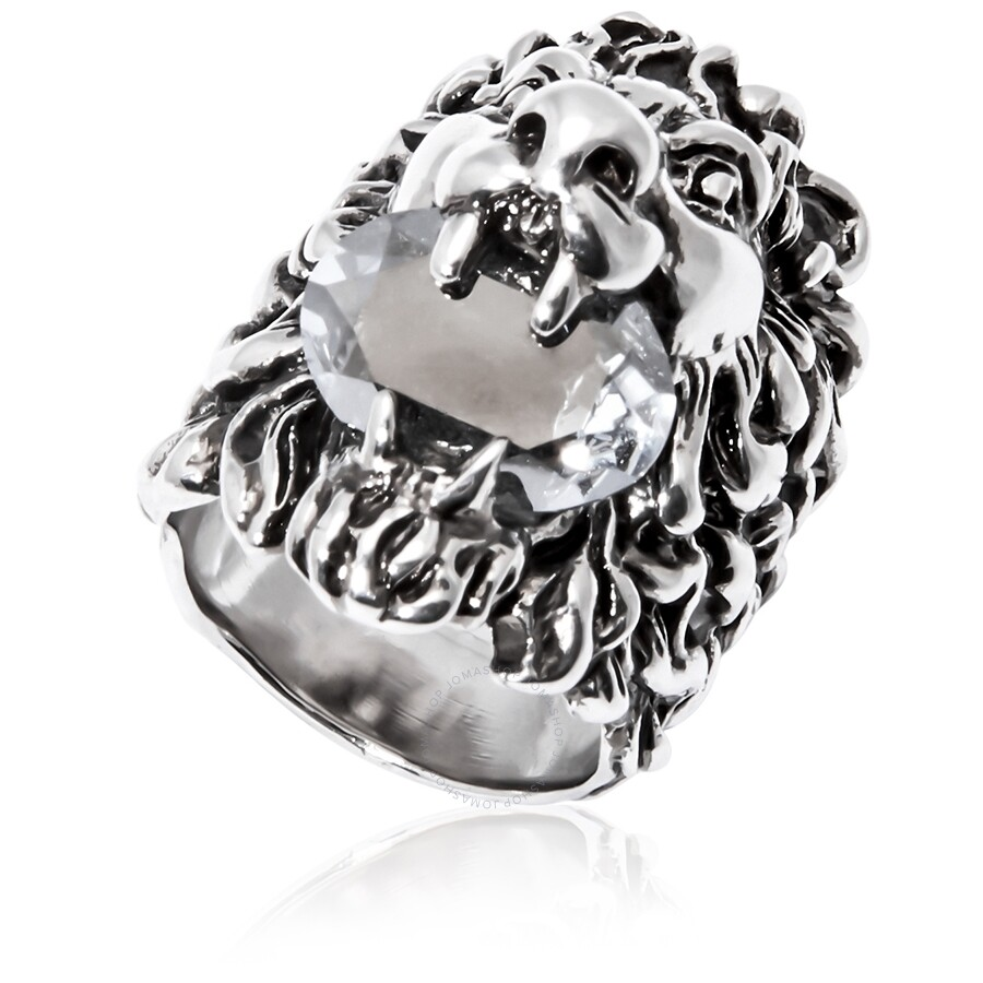 bc6e7b99f Gucci Lion head ring with crystal- Size 16 - Mens Jewelry - Jewelry ...