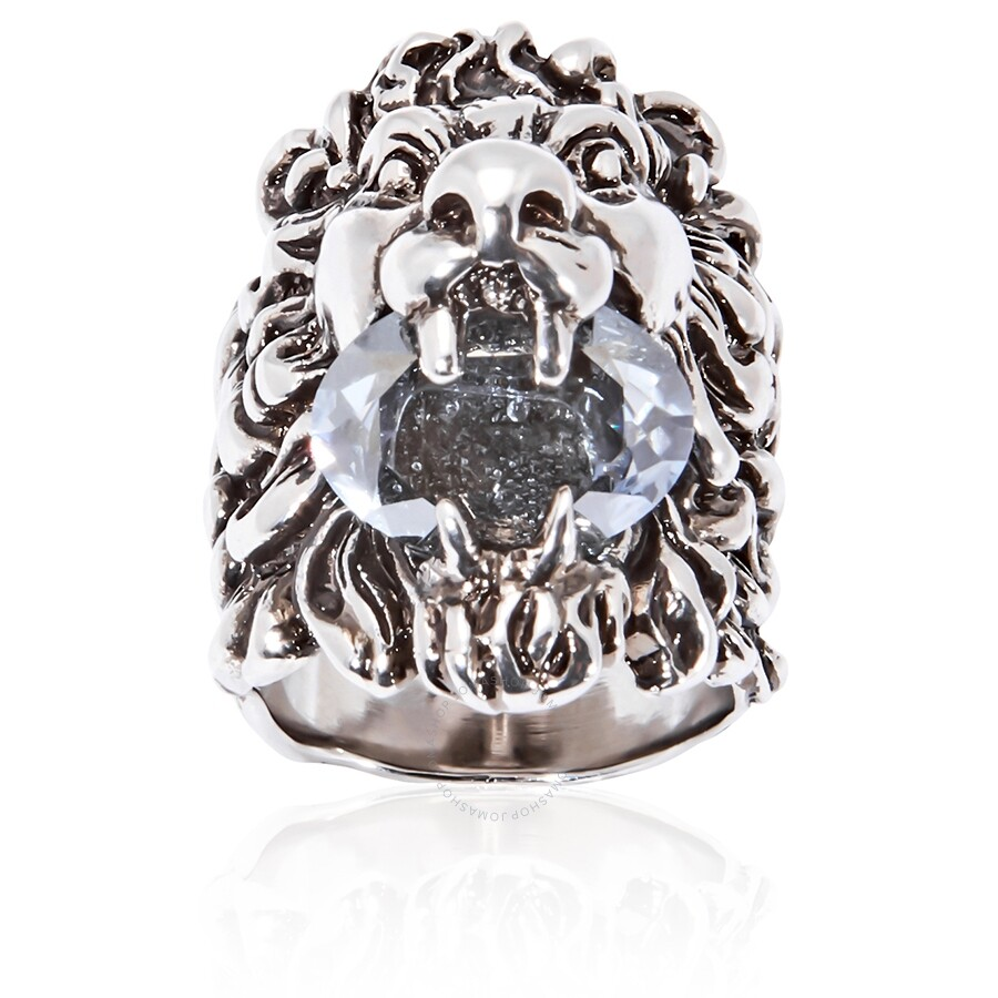 d5d25300d Gucci Lion head ring with crystal- Size 16 - Mens Jewelry - Jewelry ...