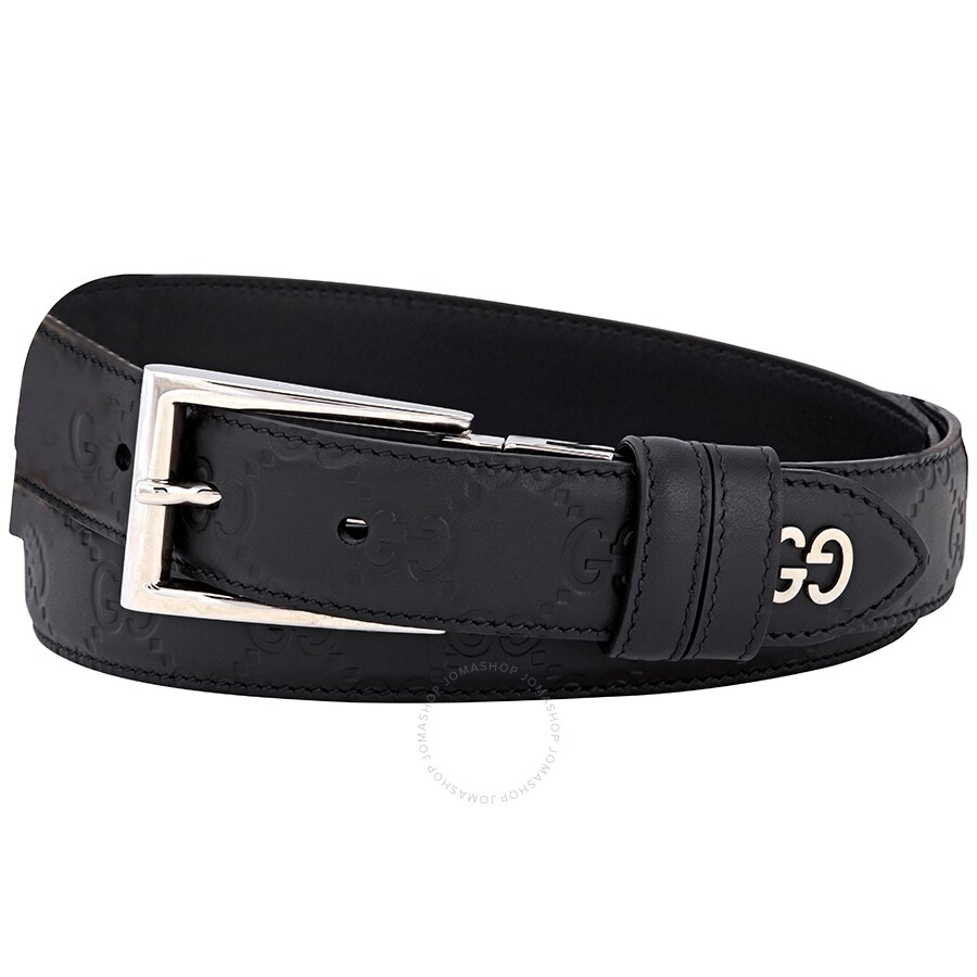 mens-black-reversible-signature-belt-size-85-cm by gucci