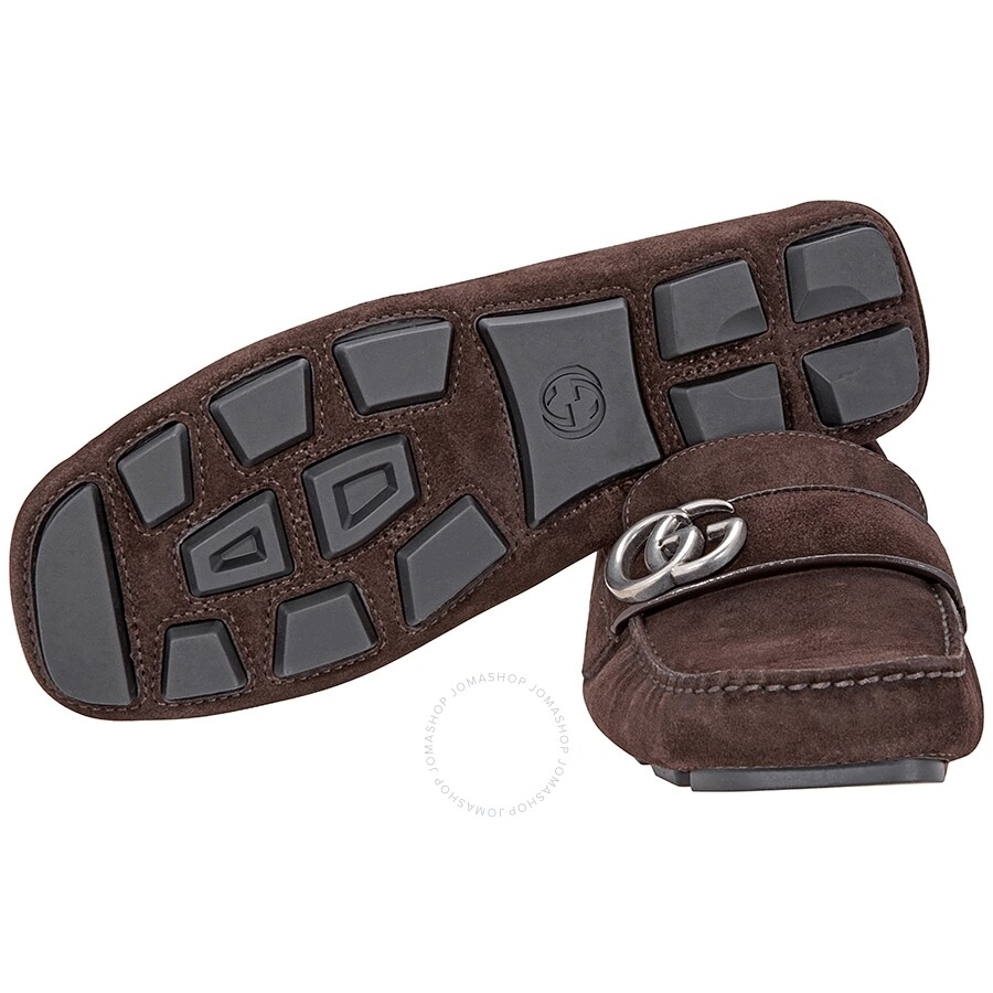 7630278f2d6 Gucci Men s Noel Drivers Loafers- Brown - Designer Shoe Sale Event ...