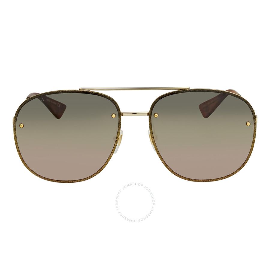 d9369f7aba Gucci Multicolor Aviator Ladies Sunglasses GG0227S 004 62 - Gucci ...