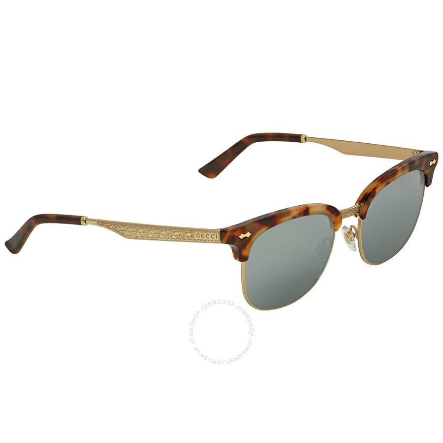 Gucci Opulent Luxury Blue Sunglasses GG0051S 002 52 - Gucci ... d8c532c108