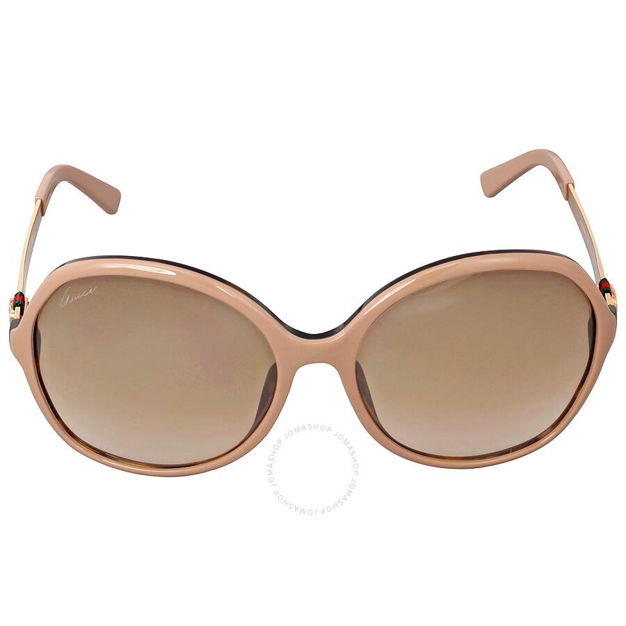 a86a88675cf Gucci Oversize Asia Fit Powder Havana Sunglasses GG3796 F SLZ6J6 ...