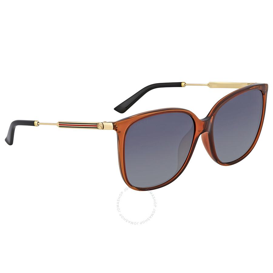 d8dffa1303 Gucci Oversize Blue Mirror Sunglasses - Gucci - Sunglasses - Jomashop