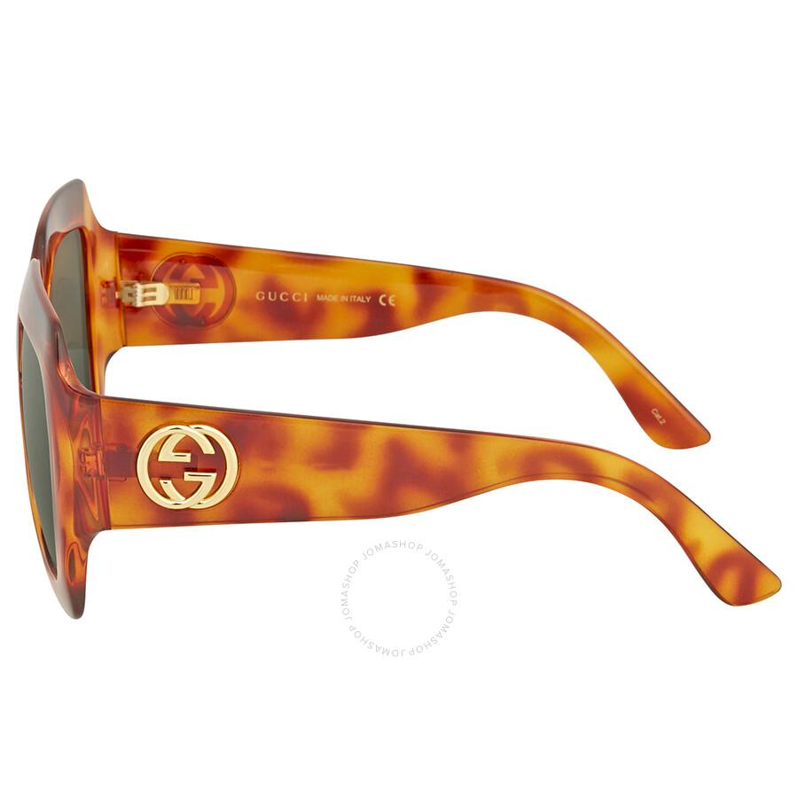 a7c6b45ce39 Gucci Oversize Brown Havana Square Sunglasses - Gucci - Sunglasses ...