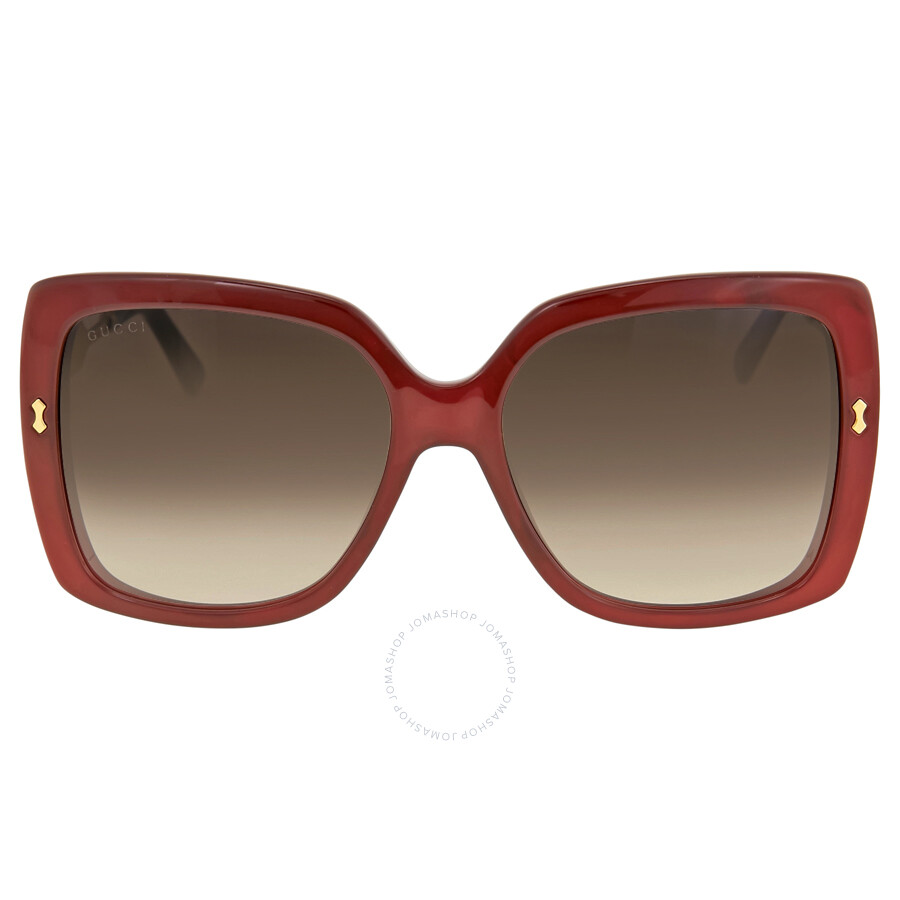bce77cae2c1 Gucci Oversize Red Frame Ladies Sunglasses GG 3843   VLD JS - Gucci ...
