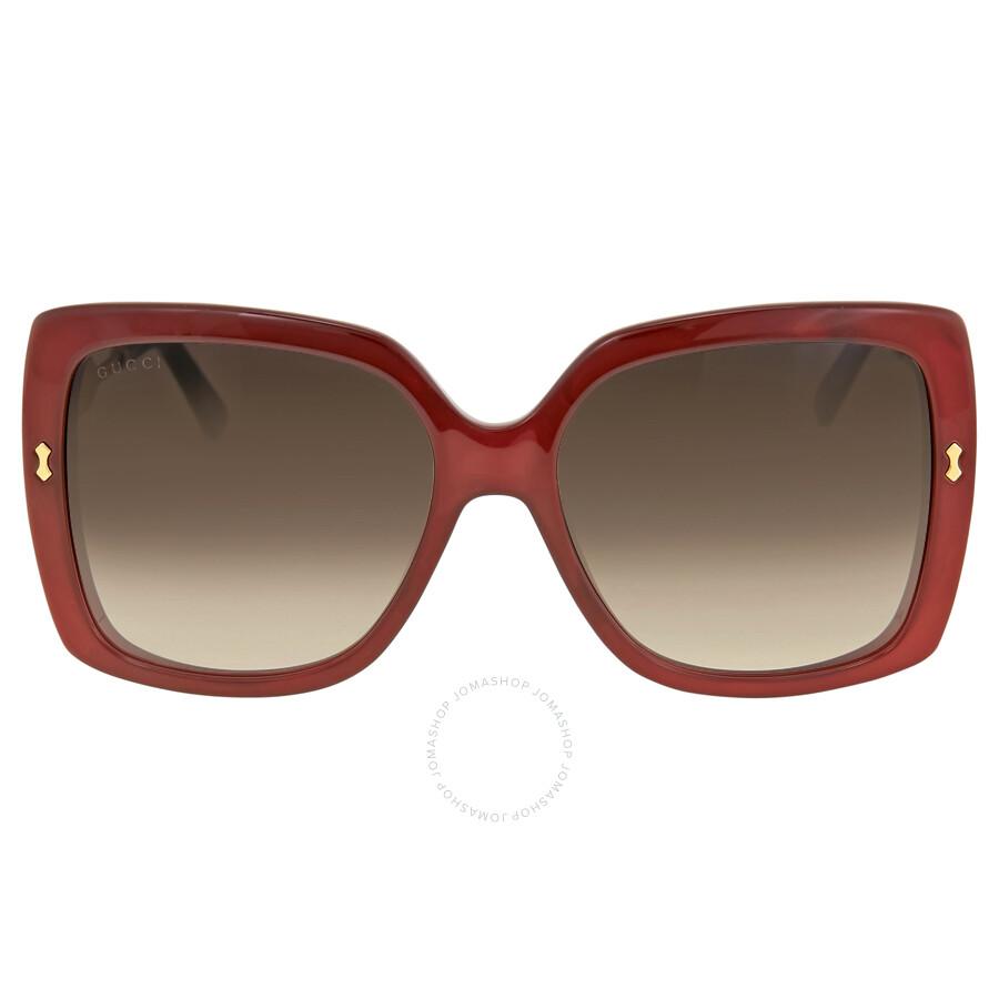 54ec53c4d50 Gucci Oversize Red Frame Ladies Sunglasses GG 3843   VLD JS - Gucci ...