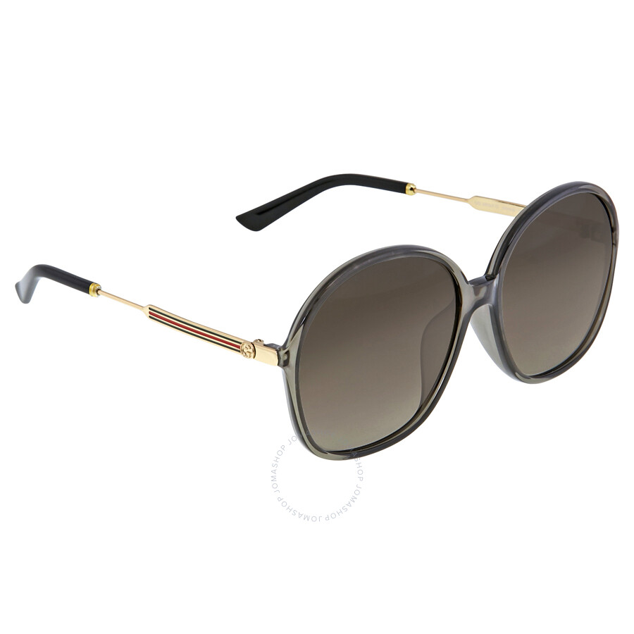 a686c483faf0 ... Gucci Oversize Round Grey Gold Ladies Sunglasses GG 3855 / VKH HA ...